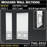 Tool Shed - Moulded Wall Section Mesh Kit