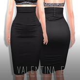 Valentina E. Helene Pencil Skirt Noir