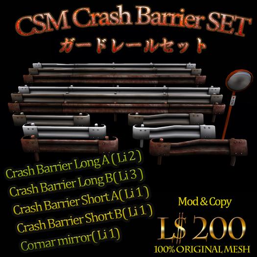 [CSM] Crash barrier SET / Guard Rails + Mirror