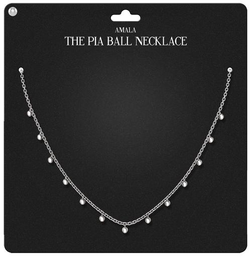 Amala - The Pia Ball Necklace - Silver