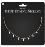 Amala - The Pia Diamond Necklace - Gold