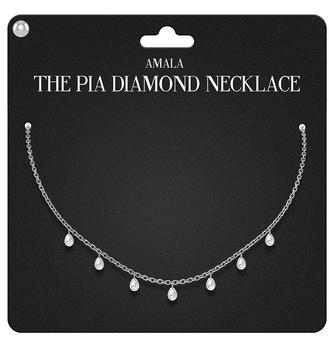 Amala - The Pia Diamond Necklace - Silver