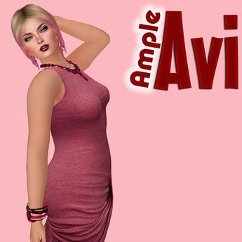 "Ample Avi - PLUM RIPE - Curvy Lush Shape, Naturally Curvy Female Shape, [6'5""] Modifiable"