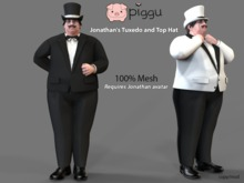 piggu Jonathan's Tuxedo and Top Hat