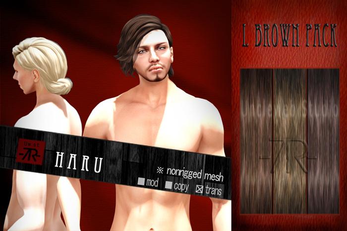 [Uw.st -7R-]  Haru-hair  L brown pack
