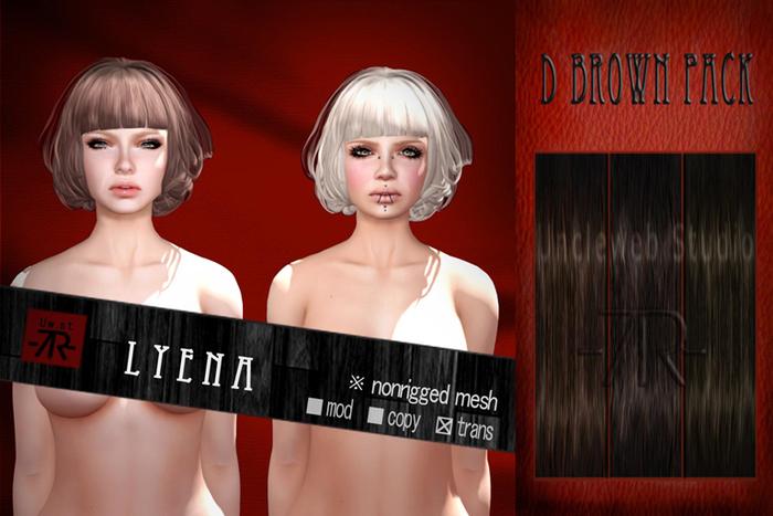 [Uw.st -7R-]  Lyena-hair  D brown pack