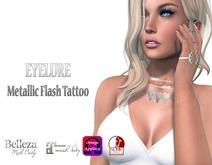 Eyelure Metallic Flash Tattoo - SILVER Hearts&Arrows