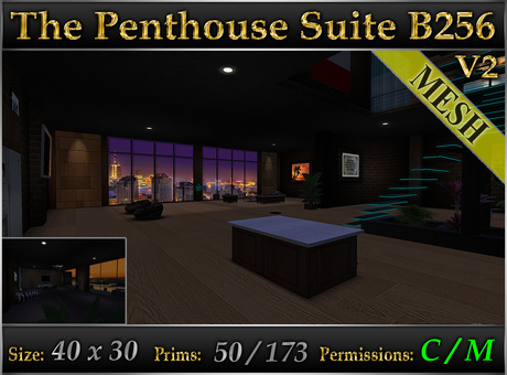 The Penthouse Suite B256 v2 *Fully Furnished* MESH Urban Loft Skybox