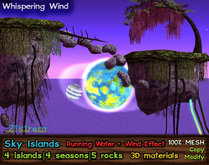 Sky Islands - 4 seasons, 5 rock textures, running water, wind effect - COPY+MOD