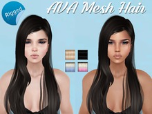 AVA Rigged Mesh Hair 01