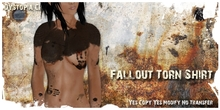 .dystopia. fallout torn shirt
