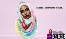 {HB}PASTEL COLOURFUL SCARF 1 [wear to unpack]