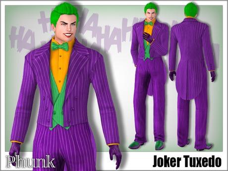 joker tuxedo shirt