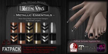 DP - Koffin Nails - FatPack - Metallic Essentials