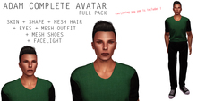 Dollarbie 6B - Complete Avatar Male + Mesh Hair & Outfit (Skin + Shape + Eyes + Mesh Hair &Outfit + Shoes + Facelight)