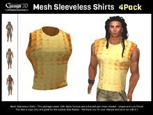 Gaagii - Mesh Sleeveless Shirts - 4 Pack (male)