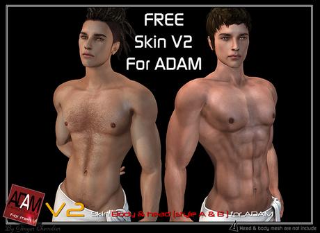 "*!*Adam-skin V2 ""Head & Body""  -- wear to unpack"