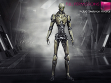 Full Perm Mesh Rigged Robo Skeleton Cyborg Full Avatar Works with most Second Life Animations