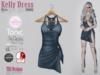 Kelly dress blues swirls