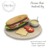 {what next} Provence Picnic Sandwich Tray (boxed)