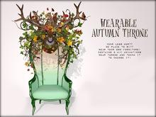 Boudoir-Wearable Autumn Throne  ☀️