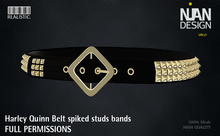 083 -.:Nian Design:. Harley Quinn Belt Spiked Gold and Silver for Female and Male Slink & Slink hourglass