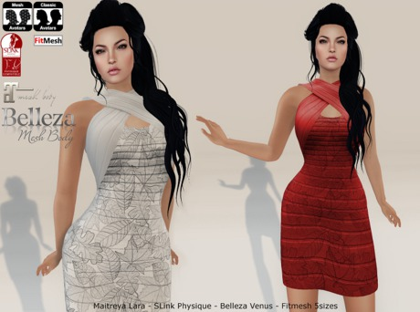 -mL- Birgitte Dress (Maitreya/Venus/Physique/Fitmesh) - HUD