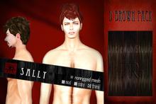 [Uw.st -7R-]  Sally-hair  D brown pack