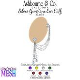 Ashbourne & Co. Silver Gemstone Ear Cuff L