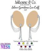 Ashbourne & Co. Silver Gemstone Ear Cuff Set