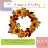 Simply Shelby  Decorative Fall Sunflower Wreath
