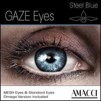 Second Life Marketplace Amacci Gaze Eyes Steel Blue