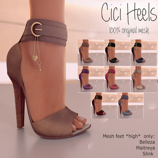 DEMO Apple May Designs - Cici Heels - Brown (wear to unpack)