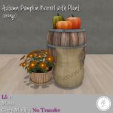 .::Hazeel::. Autumn Pumpkin Barrel w Plant (Orange)