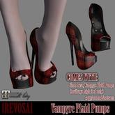 REVOSA Vampyre Plaid Pumps [Maitreya High Feet]
