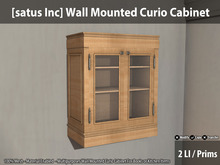 [satus Inc] Wall Mounted Curio Cabinet