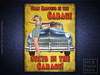 WHAT HAPPENS IN THE GARAGE Retro Pin Up Metal Sign POSTER