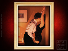 GAME ON Jack Vettriano EROTIC PAINTING | Gold Fluted Frame