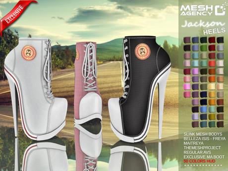 ::MA:: JACKSON Heel Sneakers Belleza, Slink, Maitreya, #TMP & Regular AV - 50 COLORS PACK