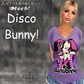 Disco Bunny! Fem T-shirt (Fitmesh F)