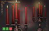 [MF] Mesh Luxurious candlestick holder with red candles (boxed)