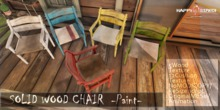 [HD]SOLID WOOD CHAIR-Paint-CouplePG