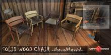 [HD]SOLID WOOD CHAIR-NaturalMaterial-single version