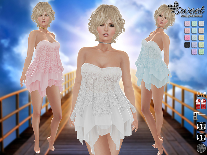 PROMO - Sweet Temptations :: Heaven Outfit Maitreya clothes, Slink (P, H), Classic @ 14 Textures HUD