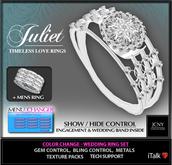 JCNY - 'JULIET', Timeless Love, Hyper-Gems, Wedding Ring Set
