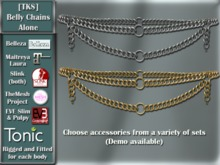 [TKS] Belly Chain Alone - Belleza, Eve, Slink, Maitreya, TheMeshProject  and Tonic Bodies