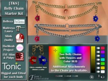 [TKS] Belly Chain - Starter Set for Belleza, Eve, Slink, Maitreya, TheMeshProject and Tonic Bodies