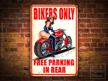 BIKERS ONLY Naughty PIN UP Metal Sign POSTER