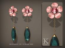 (Kunglers) Venus earrings - Turmaline