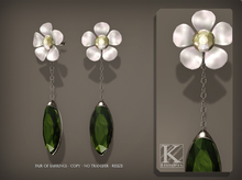 (Kunglers) Venus earrings - Emerald